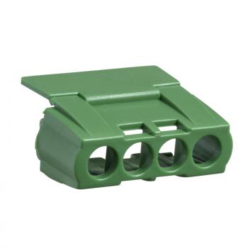IP2 poklopca za 4 otvora redna stezaljka - zelena