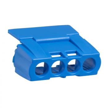 IP2 poklopac priključnog bloka sa 4 otvora - plavi