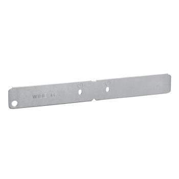 Wibe - bočni spojni element W49/40 - pregalvanizovani čelik beli