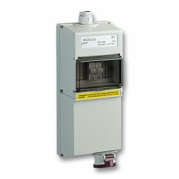 industrijska utičnica - 16 A - 2P - 230 V AC - IP 65 - nadzidna