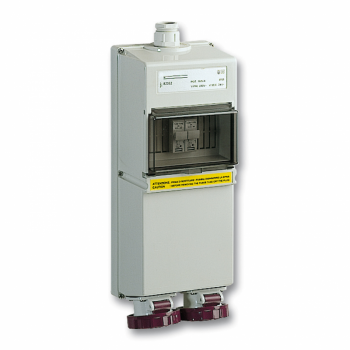 industrijska utičnica - 2x16 A - 2P - 230 V AC - IP 65 - nadzidna