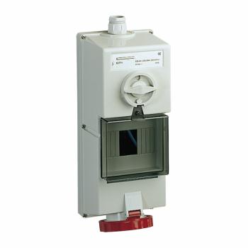 Isoblock utičnica sa blokadom - 32 A - 3P + E - 380...415 V AC - IP65 - nadzidna