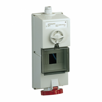 Isoblock utičnica sa blokadom-32 A - 3P + N + E - 380..415 V AC - IP65 -nadzidna