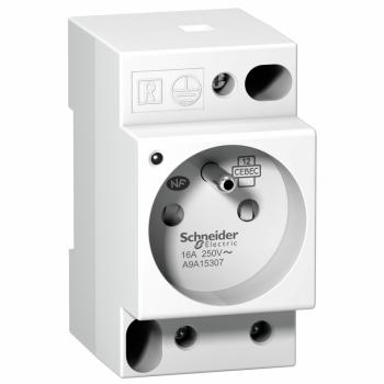 DIN utičnica iPC -2P+E -16A-250VAC-NFC15100 -francuski standard-indikator