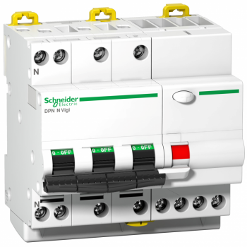 prekidač diferencijalne zaštite - DPN N Vigi - 3P + N - 6A - 30mA - klasa AC