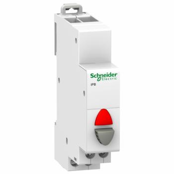 Acti9 iPB 1NC jednostruki taster sivi - indikatorska lampica crvena 12-48VAC/DC