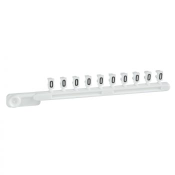 bele odvojive oznake - 25 traka od 10 - znak O