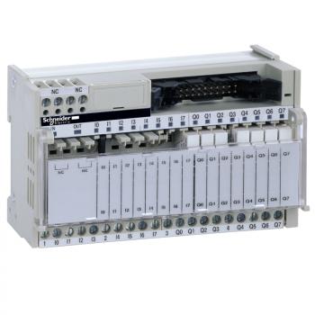 I/O baza lemljeni elektromehanički releji ABE7 - 16 kanala - relej 5 mm