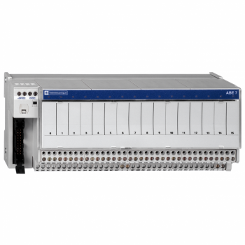 I/O baza lemljeni elektromehanički releji ABE7 - 16 kanala - relej 10 mm