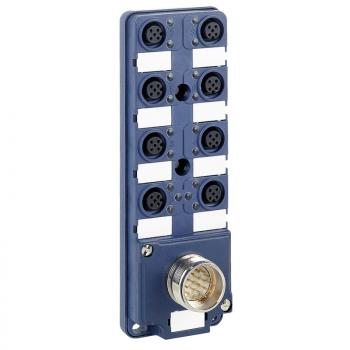IP67 pasivni razdelnik - M23 konektor - sa 8 kanala M12 konektor - LED