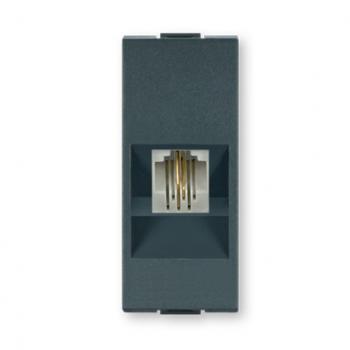 Priključnica telefonska RJ12 6/4 Antracit