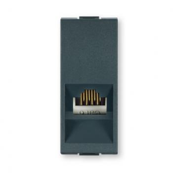 Priključnica kom.sa Keystone modulom RJ45 8/8 Cat6E UTP Antracit