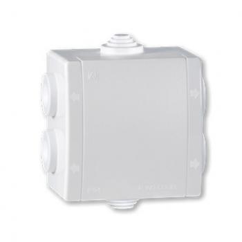 Kutija razvodna sa 6 uvoda za na zid 80x80 IP 54 500V bela