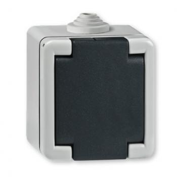 Priključnica dvopolna za na zid IP 55 16A/250V~  metalna