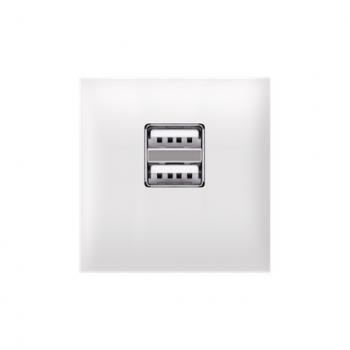 Priključnica USB punjač 2M Bela