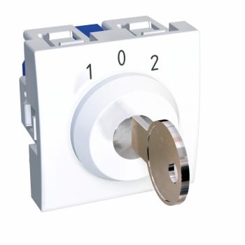 Altira - prekidač sa ključem - 3 položaja - 16 A - polarno beli