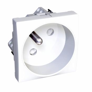 Altira - utičnica -ROTOCLIP-2P+E sa zaštitom - francuski standard - polarno bela