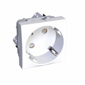 Altira - utičnica - 2P+E sa zaštitom - uzemljenje sa strane - polarno bela