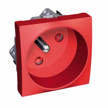 Altira - utičnica - ROTOCLIP - 2P+E sa zaštitom - francuski standard - crvena