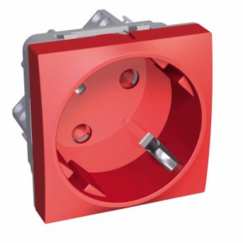 Altira - 1 utičnica - 2P+E sa zaštitom - uzemljenje sa strane - crvena