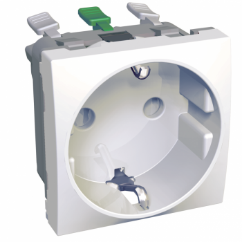 Altira - 1 utičnica - 2P+E sa zaštitom - uzemljenje sa strane - bela