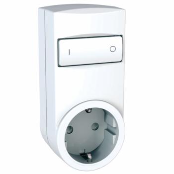 Odace/Unica Wireless - prenosna utičnica- relej - 2P+E, DE - 230 VAC - bela