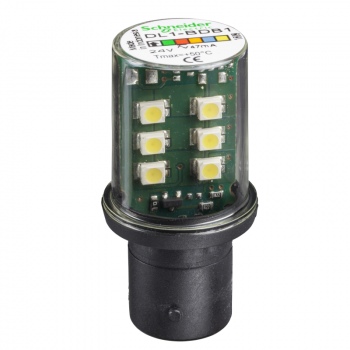 bela LED sijalica BA15D 24VAC/DC