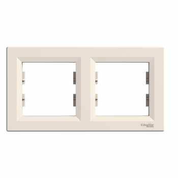Asfora - horizontalni ram za 2 elementa - krem