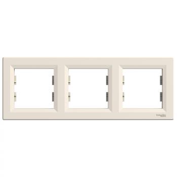 Asfora - horizontalni ram za 3 elementa - krem