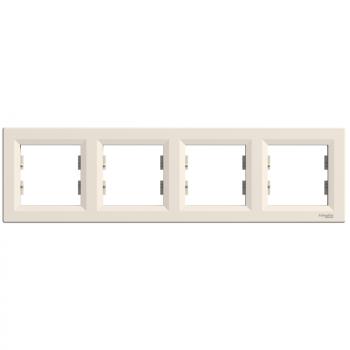 Asfora - horizontalni ram za 4 elementa - krem