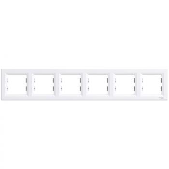 Asfora - horizontalni ram za 6 elemenata - beli