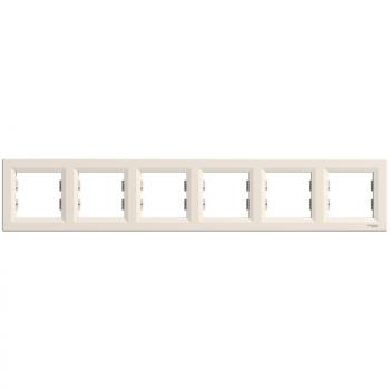Asfora - horizontalni ram za 6 elemenata - krem