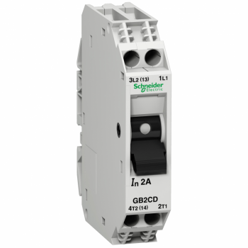 TeSys GB2 - termomagnetni zaštitni prekidač - 1P + N - 2 A - Id = 26 A