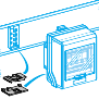 Canalis - 10 uređaja za blokiranje otcepnih kutija - KNB - crveni