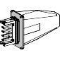Canalis - napojna jedinica za KSA - 100 A - montaža sleva ili zdesna