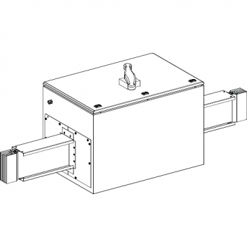 Canalis - Al deo sa izolatorom sa Compact NS1250NA - 1250A - 3L+PE