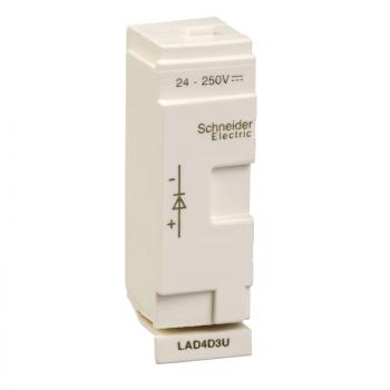 dioda 24-250VDC - D40A do D65A prigušenje