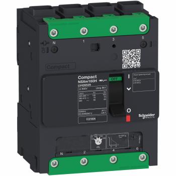 prekidač Compact NSXm 100A 4P 25kA na 380/415V(IEC), EverLink stopica