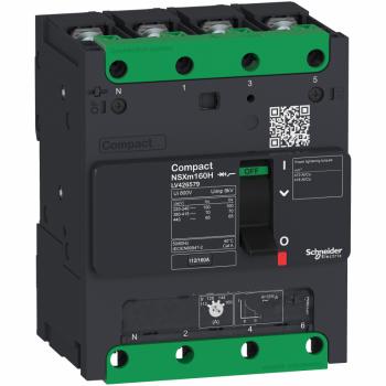 prekidač Compact NSXm 100A 4P 25kA na 380/415V(IEC), kablovska stopica