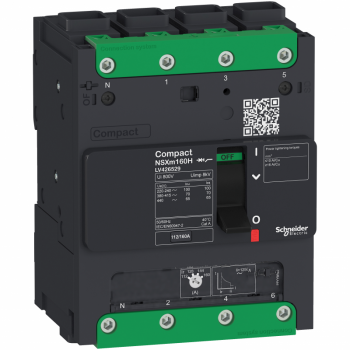 prekidač Compact NSXm 100A 4P 36kA na 380/415V(IEC), EverLink stopica