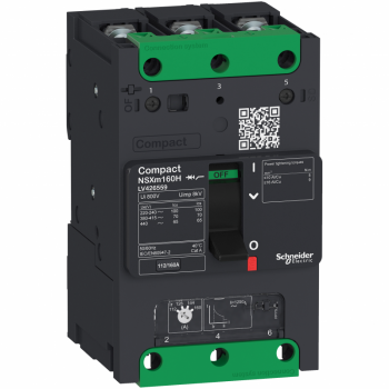 prekidač Compact NSXm 100A 3P 70kA na 380/415V(IEC), kablovska stopica