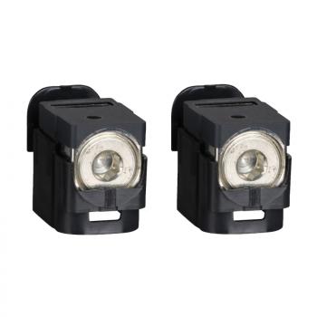 2 neizolovana kablovska priključka 25..95 mm² - za NSX100..250 DC
