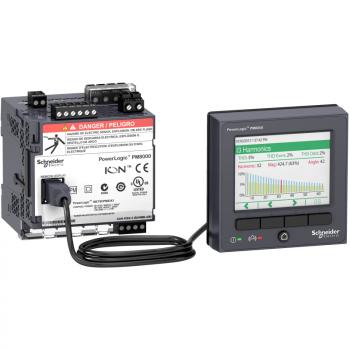 PowerLogic PM8000 - PM8244 montaža na DIN šinu multimetar + udaljeni displej