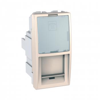 Unica - 1 telefonska utičnica - RJ12 - krem