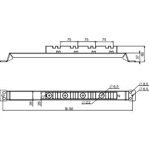nosač vertikalnih sabirnica do 3200 A 800x800 mm