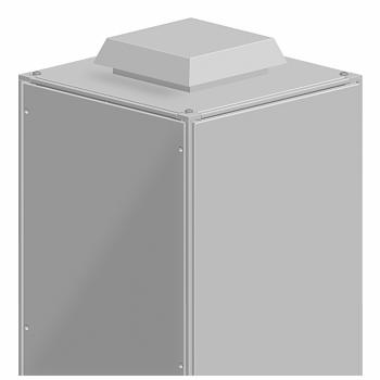 krovna izlazna rešetka - izrez 228x228mm - spolj. dimenzija 90x340x340mm - IP54