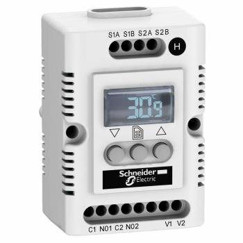 Climasys CC - elektronski higrostat - 200…240 V - Hr 20…80% - OLED displej