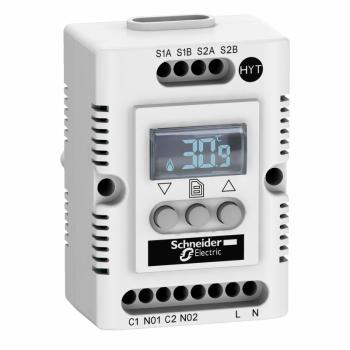 elektronski higrostat i termostat - 200…240 V - temp -40…80°C - Hr 20…80%