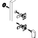 komplet ručica sa ključem 405 (2) za Spacial CRN orman