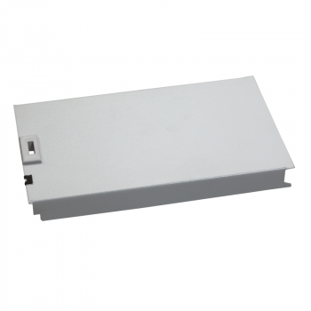 metalna prednja ploča, 12 modula, RAL 7035, V150xŠ300mm.